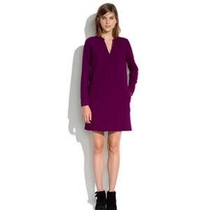 Madewell Director Shift Dress Maroon Midi